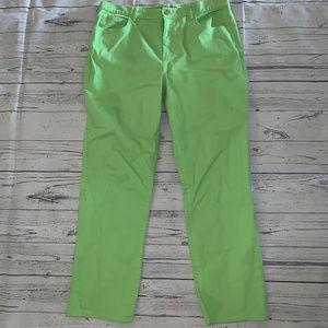 Ralph Lauren Jean Green Crop Capri Jeans Size 14